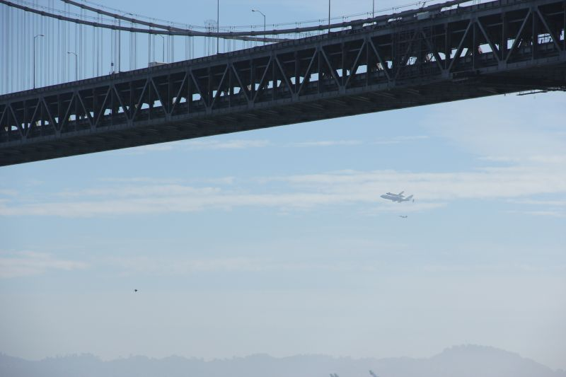 Endeavour Towards the Bridge for Another Pass