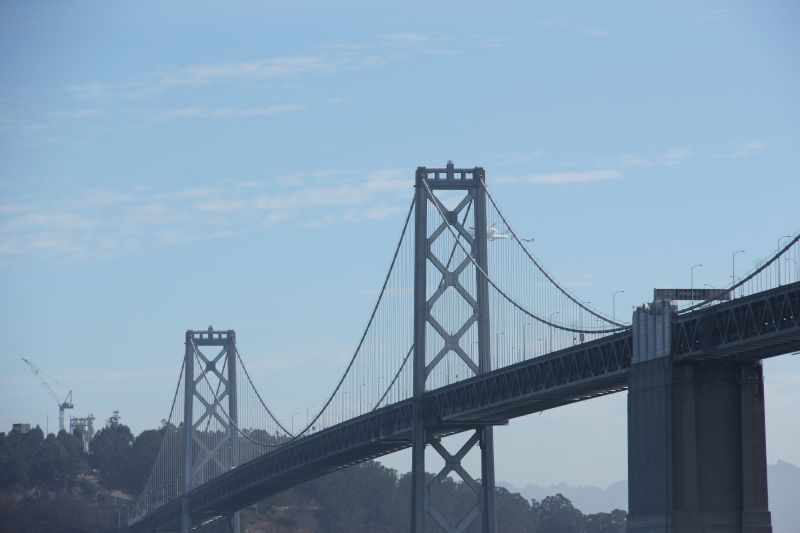 Endeavour Behind the Bay Bridge Again